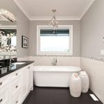 Marvelous white giraffe lamp Contemporary Bathroom in Other with glass front cabinets and eat kitchen
