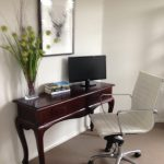 Newcastle modern office tables Home Office Modern with cabinet and cabinetry professionals louvered doors