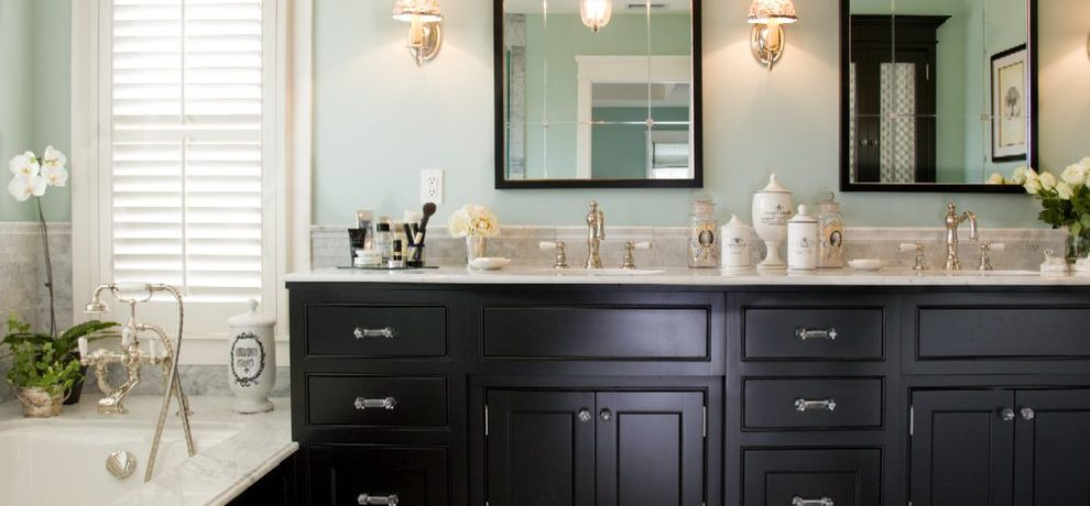 Awesome mosaic tile bathroom pictures in with Window Treatments and white window trim
