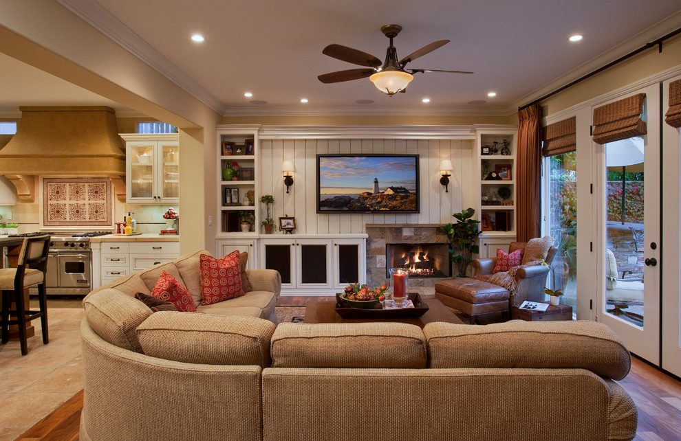 Orange County built in wall units for bedrooms Traditional ...