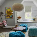 Blooming cool kid room Bluejack National Golf Community Farmhouse in Kids with framed art and hanging wicker chair