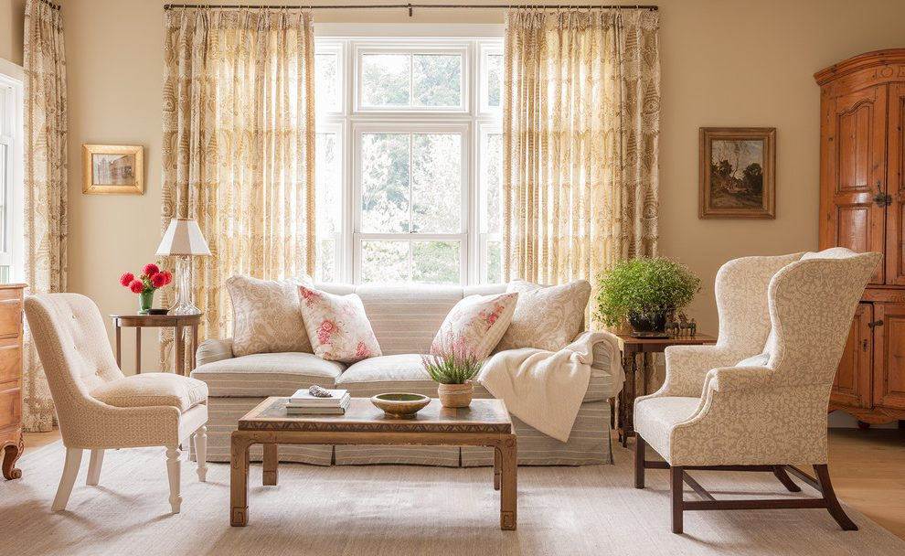 Glorious living room cabinet designs Traditional Living Room in New York with chimney cleaners and Liliane Hart Interiors