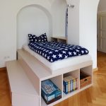 Imaginative cool kid room Contemporary Kids in Dresden with spielpodest and arched doorways