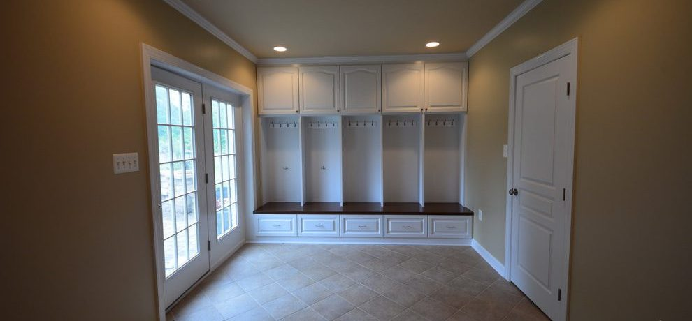 Lovely locker desks Traditional Basement in DC Metro with lockers and cabinets