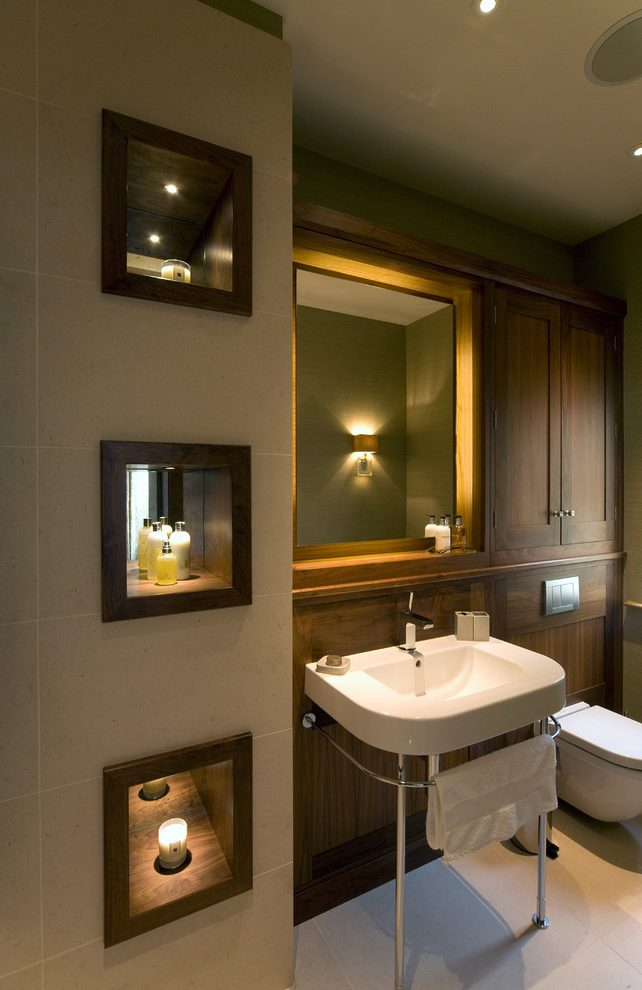 Outstanding bathroom wall design Transitional Bathroom in Other with luxury and small tile