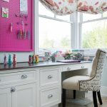 Pretty home office desks ikea Traditional Home Office in Kansas City with painted cabinetry and limestone floor