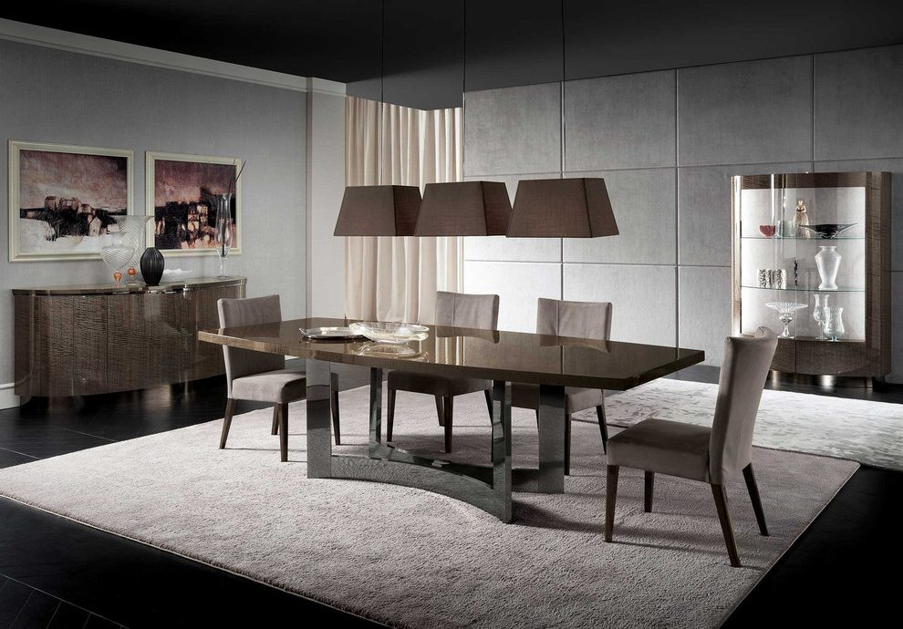 Amazing 54 round pedestal $2,375.00 Contemporary in Dining Room with dining table and Italian Table