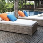Imaginative slipcovered chaise lounge Modern Patio in Chicago with outdoor lounges and wicker