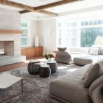 Magnificent ebay wool rugs Transitional Living Room in Boston with Custom built cabinet and white sling chair