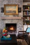Splendid Fireplace Mantels Ideas Home Renovations with Wood Floors and Gilt Frame
