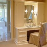 Sparkling built in linen closet Traditional Closet New York with luxury master walk-in and vanity