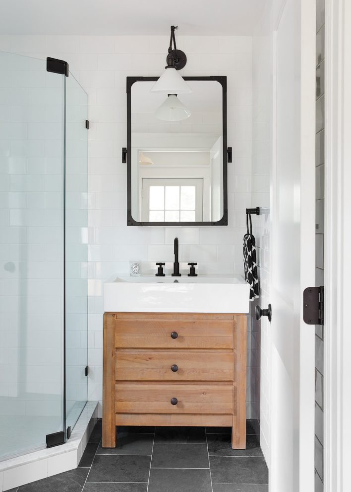 Glorious White Wood Bathroom Vanity Amazing Ideas With Black Faucet And