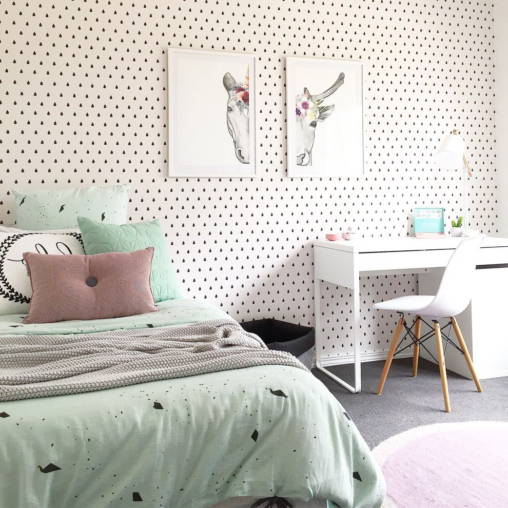 contemporary kids white kids bedroom