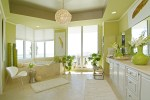 Delightful Rh Silver Sage Home Renovations with Green Accents and Walls