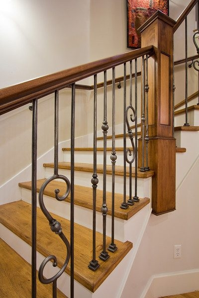 Wonderful Painted Stair Treads Interior Designs With And Risers | Painted Risers On Stairs | Flair | Painting | Stained | Basement | Hardwood