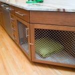Square Edge And Pocket Door Angled Base Cabinet Counter Dog Bed Brazilian Dreams Brushed Nickel Cherry Cabinets Custom Crate Decorative Mesh False