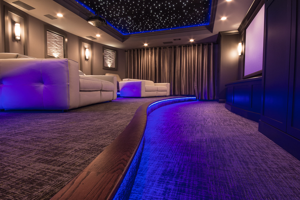 home theater decor ideas curved stair