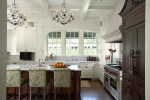 Brilliant Kitchen Cabinet Stain interior Designs with TV and Two Tone Cabinets