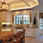 Beautiful Ceiling Coffers Kitchen Traditional With Tile Backsplash And Recessed Lighting Apron Sink Ceiling Lighting Medallion Chandelier Coffered Cove Distressed Furniture Eat In Kitchen Farmhouse