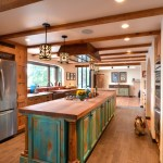 Brilliant Knotty Pine Kitchen Cabinets Kitchen Southwestern With Hardwood Flooring And Arch Doorway Arch Doorway Butcher Block Top Copper Farm Style