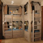 Extraordinary Built In Bed Rustic 18 RSR With Accent Lighting And Accent Lighting Accent Lighting Beige Carpet Wall Blue Bedding Brown Built-in Bunk Beds Built-in Drawers Shelves Bed Curtains Ceiling