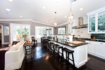 Good-Looking Hundi Light Kitchen Traditional with Sloped Ceiling Open Kitchen Stainless Steel Appliances Breakfast Bar Island White Lighting Neutral Colors Recessed Eat