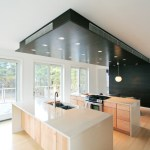 Good-looking Flat Top Gas Kitchen Modern With Sliding Doors And Balcony Railing Balcony Railing Dark Stained Wood Flush Cabinets Kitchen Island Natural Patio Doors Recessed Lights Sliding Stainless