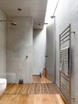 Good-looking Looking For Flexible Bathroom Modern with Natural Finish Timber Beams Flooring Cladding Custom-made Stainless Steel Materials Recycled Veneer Exposed