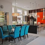 Impressive Sunburst Wall Clocks Dining Room Contemporary With Window Above Sink And Gray Area Rug Built In Bar Glass Pendant Lights Top Dining Table Gray Area Rug Open Floor Plan Orange Subway Tile