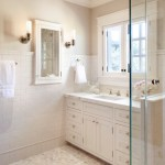 Lovely Recessed Medicine Cabinets Bathroom Traditional With Marble Wall And Medicine Cabinet Backsplash Chair Rail Clear Glass Shower Stall Crown Molding Flush Inset Cabinet Marble Tile Floor Wall