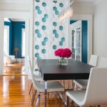 Astonishing Common Paint Colors Dining Room Transitional With Dining Table And Accent Wall Accent Wall Crystal Chandelier Dining Table Feature White