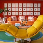 Astonishing Decorating With A Red Couch Living Room Modern With Orange Sofa And Chaise Lounge Accent Wall Bullseye Rug Chaise Longue Lounge Color