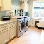 Blooming Lowes Laundry Room Storage Cabinets Laundry Room Traditional With Green Tile And Subway Tile Green Tile Subway Tiled Floor White Cabinets