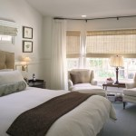 Fabulous Curtains Picture Window Bedroom Traditional With Roman Shades And Curtain Hardware Bay Window Benjamin Moore OC45 Blue Roll Pillow Bolster
