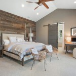 Glorious Interior Barn Door Bedroom Farmhouse With 100-year-old Barnwood And Roost Chairs 100-year-old Barnwood Arteriors Lamps Ceiling Fan Dovetail