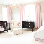 Good-Looking Cherry Blossom Wall Decal For Nursery Nursery Traditional With White Ottoman And Patterned Armchair Arched Window Babies Room Beige Wall