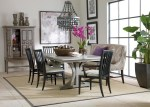Impressive Ethan Allen Trestle Table Dining Room Eclectic with Floral Patterns Framed Art Upholstered Dining Chair Room Accessories Chandelier Contemporary Upholstery