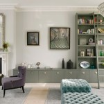 Pleasing Small Ottomans Footstools Living Room Transitional With Purple Armchair And Sage Green Cabinet Book Shelf Glass Chandelier Large Grey Rug