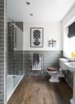Amazing Bathrooms with White Tile Bathroom Traditional Bathroom Metro Tiles Walk in Shower Grey Heated Towel Rail Metro Tiles Screen and