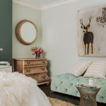 Awesome Dresser Mirror Ideas Bedroom Transitional With Mirror Above Dresser And Blue Tufted Bench Blue Tufted Bench Cerused Oak Circle Wall Mirror