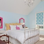 Brilliant Blue Roman Shade Kids Transitional With Girls Bedroom And Light Blue Wall Bedroom Desk Beige Carpet Blue And White Roman Shade Chandelier