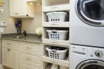 Brilliant Elephant Laundry Basket Laundry Room Traditional with Stackable Washer and Dryer Sotrage Room Storage Dedicated White Shaker Cabinets