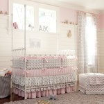 Brilliant Ikea Crib Bedding Traditional Chevrons and Dots with Pink Natural Lighting New Arrivals Girls Room Dust Ruffle Panelled Walls Chevron Print Polka Dots Metal White