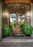 Extraordinary Front Door Mats Entry Craftsman with Potted Plants Eldorado Stone Custom Entry Step Glass Doors Covered Front Porch Arched Double