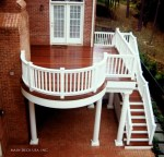 Fabulous Cellular Pvc Decking Deck Rustic with Circular Deck Exterior Stairs Railing Railings