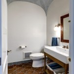 Glorious Terracotta Wall Tiles Powder Room Mediterranean With Groin Vault Ceiling And Moroccan Style Arch Ceiling Beautiful Bathroom Design BEAUTIFUL