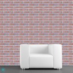 Good-Looking Removable Brick Wallpaper Boston industrial with Temporary Self Adhesive Repositionable Fabric Wall Decal Collection Peel and Stick