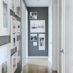 Imaginative Dark Gray Walls Hall Transitional With Neutral Color Scheme And Hall Artwork Charcoal Walls Custom Millwork Dark Gray Gallery Wall Hall