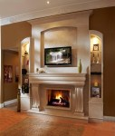 Lovely Tv Fireplace Ideas Living Room Traditional with Venetian Stone Stone Mantle Formal Living Room Mantel Hand Carved Traditional Cast Neutral Colors Glass Shelves