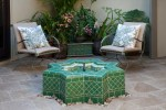 Magnificent Water Features For Patios Patio Mediterranean with Modern Fountain Outdoor Potted Plants Furniture Tile Star Fountain Green